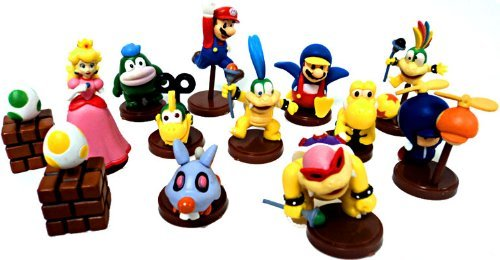 (Furuta New Super Mario Bros. Wii Collection Series 1 Set of 13 Mini 2 Inch PVC Figures Includes Penguin Mario Variant Egg!)