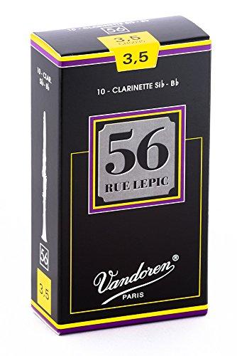Vandoren CR5035 Bb Clarinet 56 Rue Lepic Reeds Strength 3.5; Box of 10