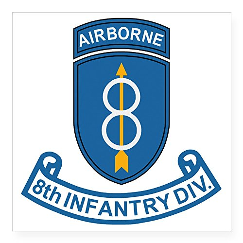 CafePress - Army-8th-Infantry-Div-7-Bon Square Sticker 3