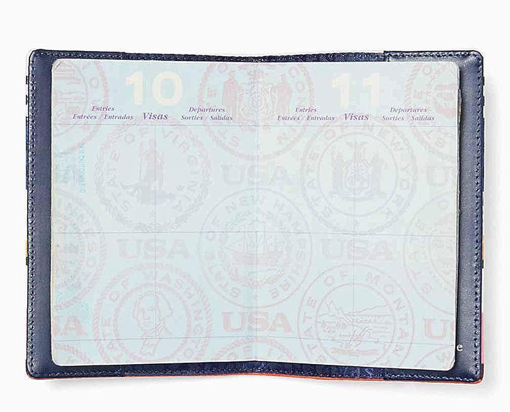 Kate Spade New York Shore Street Berber Stripe Passport Holder Pink Multi