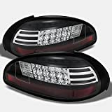 pontiac grand prix brake light - 97-03 Pontiac Grand Prix Black Bezel Rear LED Tail Lights Brake Lamps Replacement Pair Left + Right