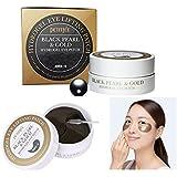 Petitfee ブラックパール&ゴールドハイドロ眼帯(1.4gx60sheet)/ Black Pearl & Gold Hydrogel Eyepatch (1.4g x 60sheet) [並行輸入品]