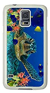 Sea turtle Easter Thanksgiving Personlized Masterpiece Limited Design PC White Case for Samsung Galaxy S5 I9600 by Cases & Mousepads