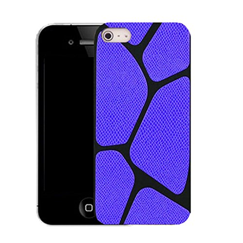 Mobile Case Mate IPhone 4 clip on Silicone Coque couverture case cover Pare-chocs + STYLET - blue blocked pattern (SILICON)