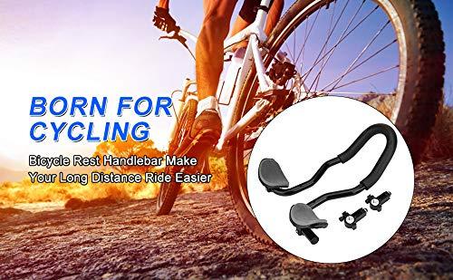Bnineteenteam Bicycle Aero Bars Bicycle Rest Handlebar Aluminum Alloy TT Handlebar with Sponge Cushion for Moutain Bike,Road Bike