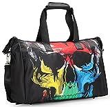 Unisex Big Handbag Tote Shoulder Crossbag Travel 3D Fashion Duffel Bag 19 Inches (Skull) For Sale