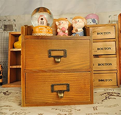 Amazon.com  Wood Makeup Organizer Storage Box Cosmetic