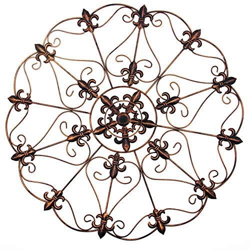 30 Foot Bronze - Comix Wall Decor, Metal Iron Wall Décor Wall Mounted Hanging Decoration for Home/Indoor/Outdoor Decors, 30'' x 30'' Diameter by Distressed Bronze Finish(GL18019)