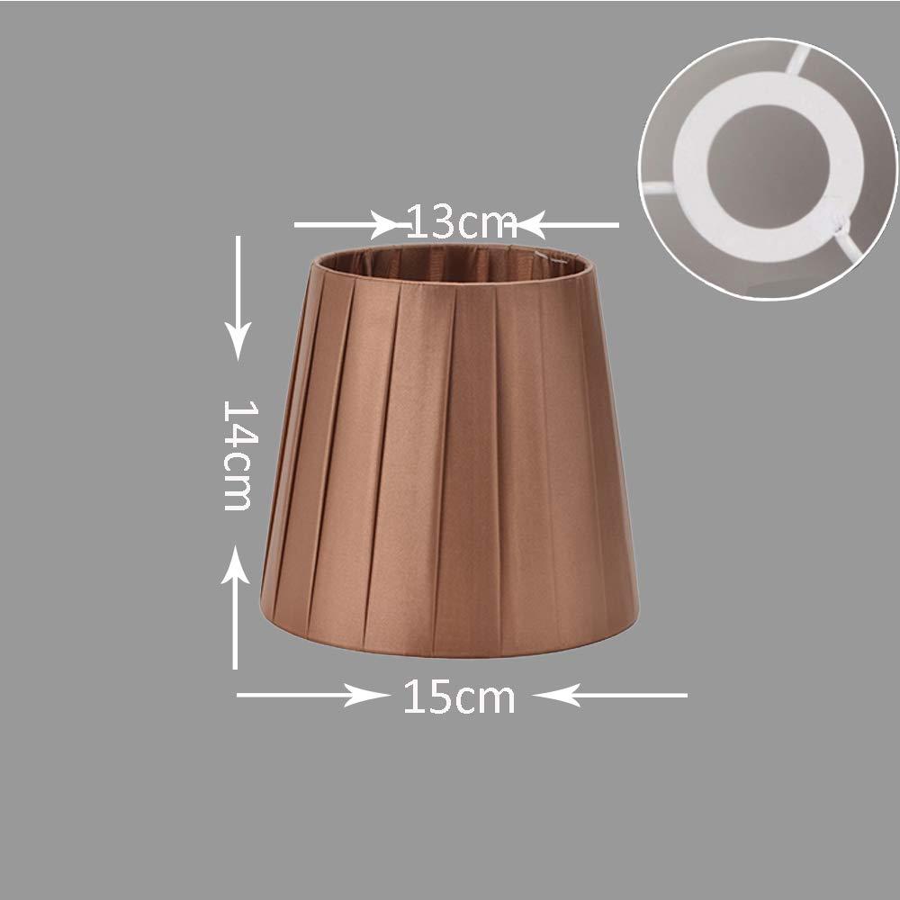 13 cm x H/öhe DULEE 5,5 Zoll Clip auf Lampenschirme f/ür Kerze Kristall Kronleuchter Wand Lampe Droplight Kleine Lampenschirme, Oben Beige unten 9 cm x 14 cm