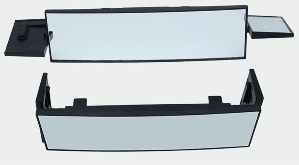 Toruiwa Auto R/ückspiegel Auto Panoramaspiegel Panorama R/ückspiegel Auto Innen-R/ückspiegel mit faltbar Winkeleinstellung runder Winkel gebogen universal