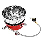 Cheap AOTU K203 Mini Windscreen Lotus Gas Camping Stove Windproof Foldable Portable Lightweight with Built-in Electric-spark Ignition for Outdoor
