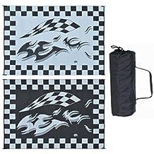 Ming's Mark HA1 8 X 12 Black Checker Flag Mat