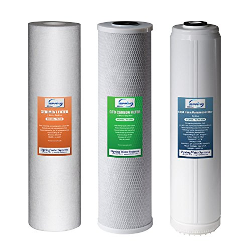 iSpring F3WGB32BPB Replacement Filter Pack for 3-Stage 20 inch Whole House Water Filter, Fits WGB32B-PB by iSpring