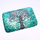 Fashion Green Tree Printed Soft Flannel Rectangle Floor Rugs Entrance Door Mats Bathroom Carpet Bedroom Anti-Slip Mat…
