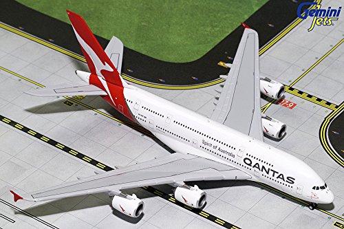 (GeminiJets GJQFA1783 Qantas A380-800 New Livery VH-OQF' / GEMGJ1783 1:400 Gemini Jets Qantas Airbus A380-800 (New Livery) Reg #VH-OQF (pre-Painted/pre-Built))