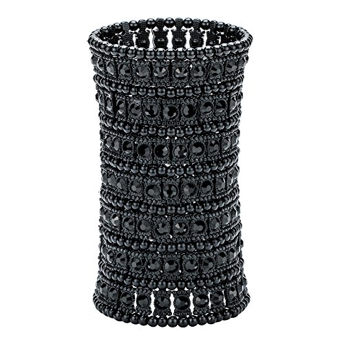 Hiddleston Multilayer 7 Row Jewelry Gothic Stretch Bracelet Sleeve Arm Cuff Rocker Wristband Heavy Metal Bobo Halloween Costume Women Accessory -