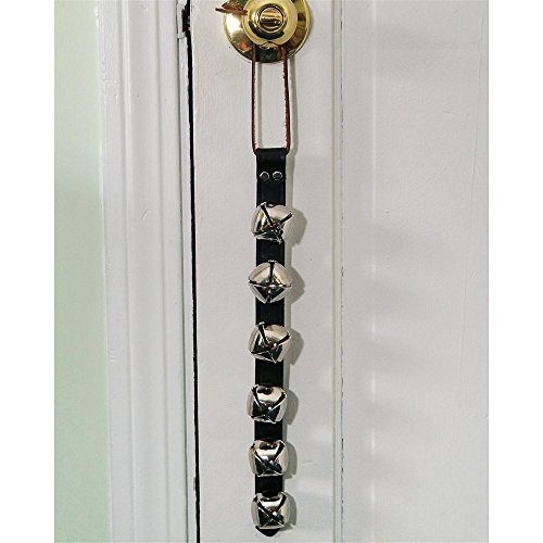 (Weaver Arctic Sleigh Bell Door Hanger - No. of Bells:6 Bells Metal Plate:Nickel by Weaver)