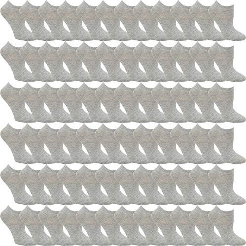 48 Pairs Ankle Socks for Men Bulk Wholesale (Gray, Mens (Size 10-13, Shoe Sizes 7-12)) -