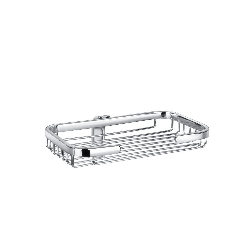 STERNBERG 410-31 Bathroom Wall Mounted Solid Brass Rectangle Shower Wire Basket Shower Soap Caddy Cosmetic Holder Shelf Hanging Organizer (Chrome)