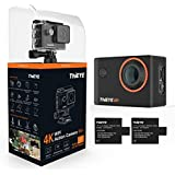 ThiEYE i60+ 4K WIFI Underwater Sports Action Camera Ultra HD Waterproof DV Camcorder 170° Wide Angle with 2 Pcs Rechargeable Batteries and Accessories Kits [Upgraded Version]
