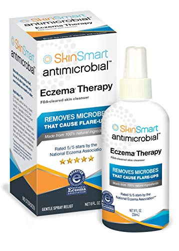 (SkinSmart Antimicrobial Eczema Therapy Removes Bacteria, so Your Skin Can Heal, 8oz Clear Spray)