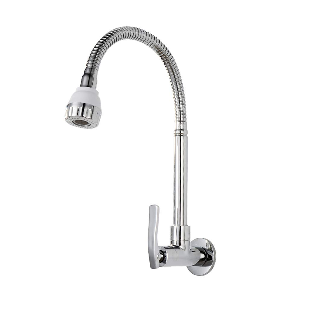 Yxx max Bathroom Copper in-Wall Faucet Single Cold Kitchen Sink Faucet Universal Faucet