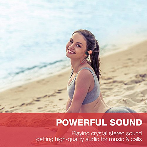 Large Product Image of Bluetooth Headphones, Otium Best Wireless Sports Earphones w/Mic IPX7 Waterproof HD Stereo Sweatproof In Ear Earbuds for Gym Running Workout 8 Hour Battery Noise Cancelling Headsets