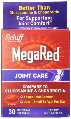 Schiff MegaRed Joint Care with Krill Oil, Hyaluronic Acid and Astaxanthin - 2 Bottles, 60 Softgels Each by Schiff