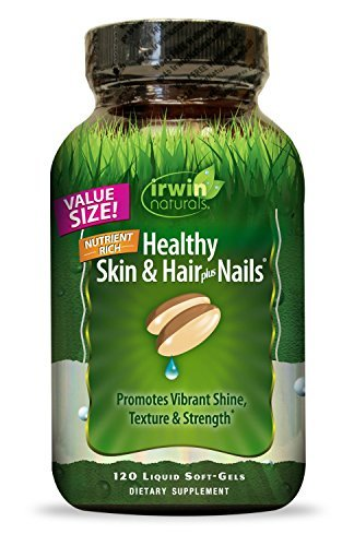Healthy Skin & Hair Plus Nails by Irwin Naturals, Nutrient Rich, Provides Shine and Strength, 120 Liquid Softgels, 2 Pack
