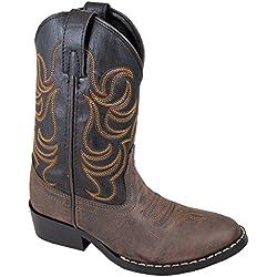Smoky Mountain Children Boys Monterey Western Cowboy Boots Brown/Black, 12M