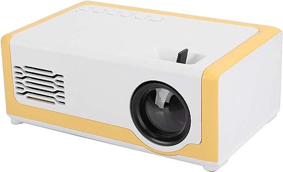 Opinión sobre Vbestlife Mini proyector para niños Teléfono de Entretenimiento inalámbrico Hogar portátil 1080P Regalo para niños Proyector de Bolsillo Proyector portátil HDMI USB AV Proyector(Amarillo)