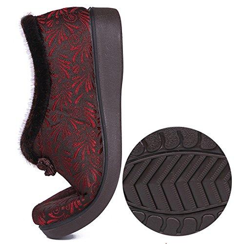 Women Zapatos Base Caliente Gruesos Madre Otoño Edad Khskx Mediana De el Invierno Abuela Suave El Gules Size Loose Shoes Antideslizante Y w0xzqXYqT