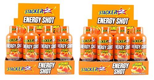 Stacker 2 Energy Shots, Orange Flavor 12pk (2) -