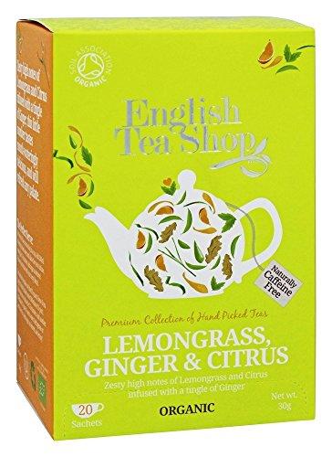 English Tea Shop - Lemongrass, Ginger & Citrus - 20 Sachet Envelope - 30g