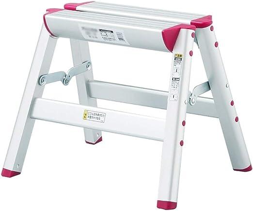 MMWYC Escalera de Mano Plegable Escalera de Paso Escalera de Aluminio Taburete de Trabajo de Plataforma Plegable Capacidad de Carga de 330 lbs/Plata (Size : One Step Stool): Amazon.es: Hogar