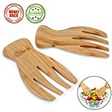 Salad Servers Bamboo Serving Tosser/Server Claws/Wooden Server Claws Stylish Design Best for Serving Salad, Pasta, Fruit Great On Your Kitchen Counter Pack of 2