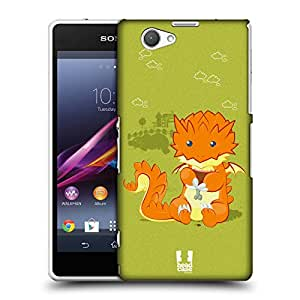 Head Case Designs Eating Little Dragons Protective Snap-on Hard Back Case Cover for Sony Xperia Z1 Compact D5503