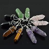 Merdia Jewelry Healing Point Chakra Cut Created Gemstone Pendant Necklace