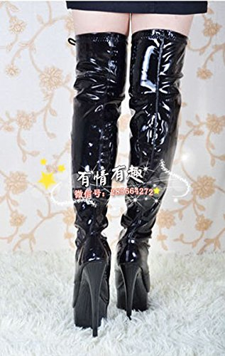 tie front boots dress knee catwalk shoes 15 high heels high fashion cm qwXY0