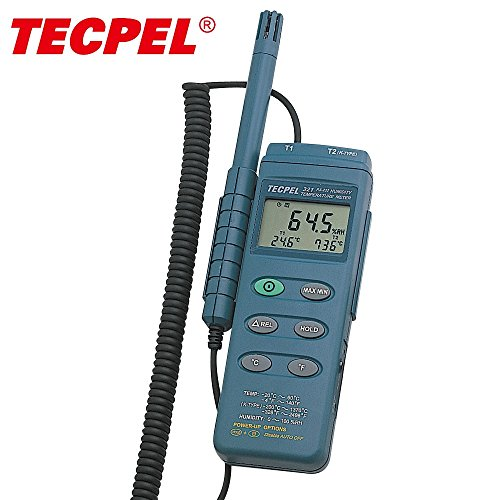 Tecpel digital handheld Humidity thermo hygrometer DTM-321 by Tecpel