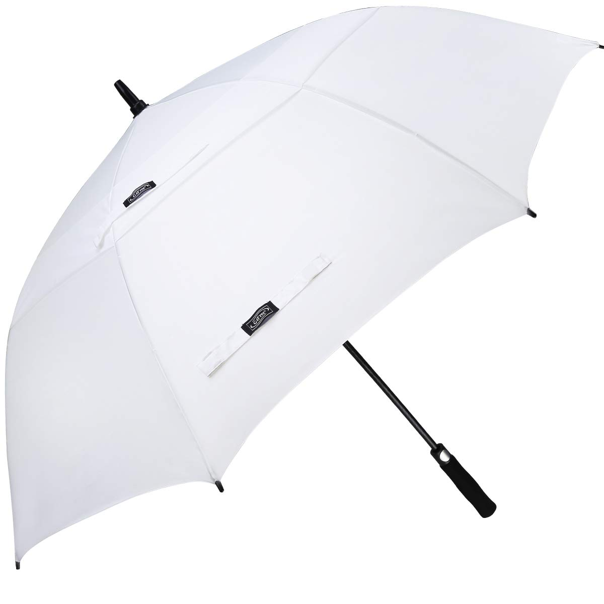 G4Free 62 Inch Automatic Open Golf Umbrella Extra Large Oversize Double Canopy Vented Windproof Waterproof Stick Umbrellas(White) by G4Free