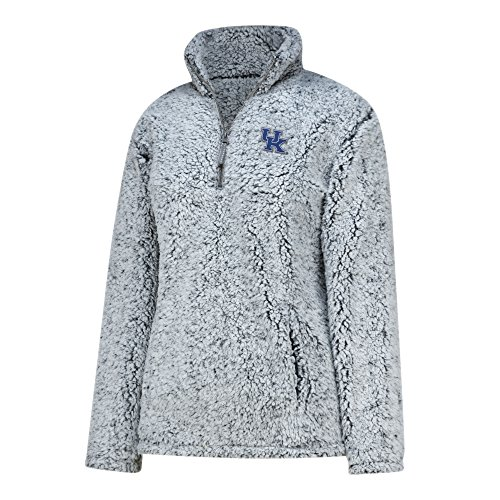 J America NCAA Kentucky Wildcats Adult Women Apres Ski 1/2 Zip, XX-Large, Grey (Ski Wildcat)
