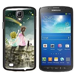 LECELL--Funda protectora / Cubierta / Piel For Samsung Galaxy S4 Active i9295 -- Lluvia de meteoros Arte Cielo Nocturno Hermanas Estrella --