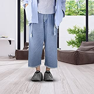 NKTM Non-Slip Washable Reusable Shoe Covers - worn