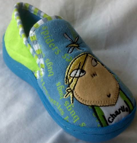 Charlie and Lola, Charlie Rubber Sole Shoes, Kids Shoe Size 7 Halloween Costume -