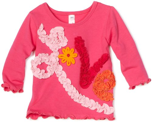 Love U Lots Baby Girls' Love Ruffle Tee