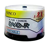 1,200 Princo 8X DVD-R 4.7GB White Inkjet