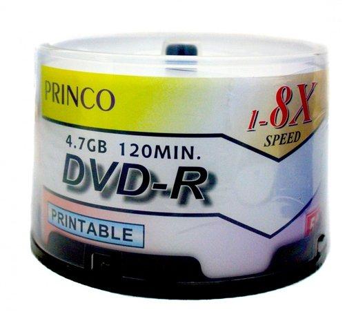 1,200 Princo 8X DVD-R 4.7GB White Inkjet by Princo