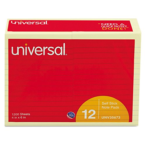Universal Standard Self Stick Yellow 100 Sheet product image