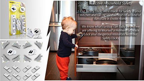 Baby Safety Magnetic Locks | Drill-Free, no Tools, no Screws | 8 Locks + 2 Keys | Child proofing for Cabinets Doors Drawers Cupboards | Invisible on Furniture | Easy to Install, Self-Adhesive 3M Tape by KAMAF SAFETY (Image #5)